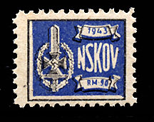 "Nazi Party Dues  1943 ""NSKOV""  .90 Reich Marks"