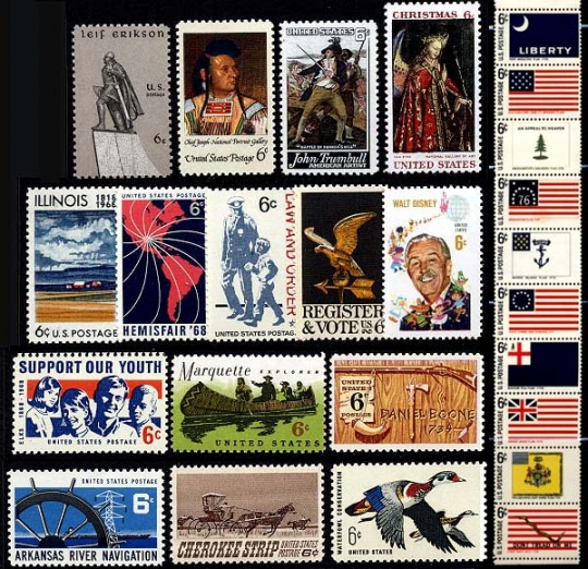 1968 Us Commemorative Stamp Year Set 1339 64