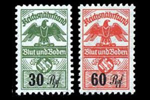 Nazi Party Nsdap Dues Revenue Stamps