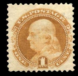 US 112 1869 1 Cent Franklin Pictorial