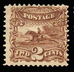 US 113 1869 2 Cent Post Rider