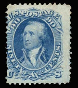 US 72 1861 90 Cent Washington