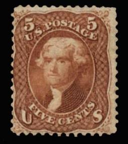 US 75 1862 5 Cent Jefferson